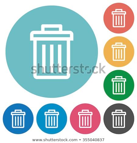 Recycle Bin Pink Vector Button Icon Stock photo © rizwanali3d