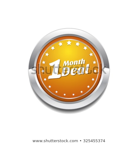 1 Month Deal Yellow Vector Icon Button Stock photo © rizwanali3d