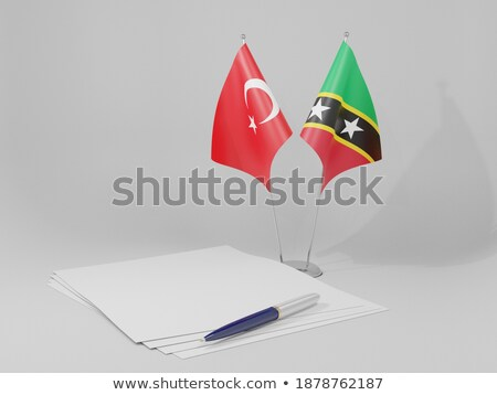 Turquia bandeiras quebra-cabeça isolado branco Foto stock © Istanbul2009