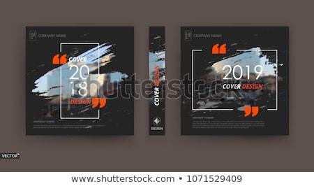 vektor · névjegy · absztrakt · hullámos · vonal · terv - stock fotó © smeagorl