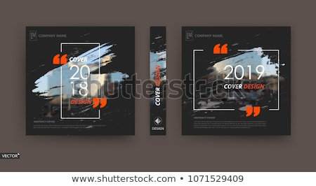 Illustration résumé techno couvrir design bleu Photo stock © smeagorl