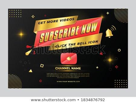 Subscribe Now golden Vector Icon Design Stock photo © rizwanali3d