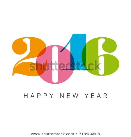 happy · new · year · 2016 · tebrik · 3D · stil · mutlu - stok fotoğraf © voysla