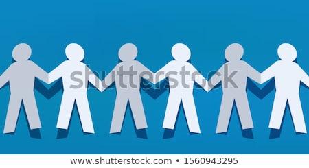 insanlar · zincir · vektör · beraberlik · örnek · simge - stok fotoğraf © paha_l
