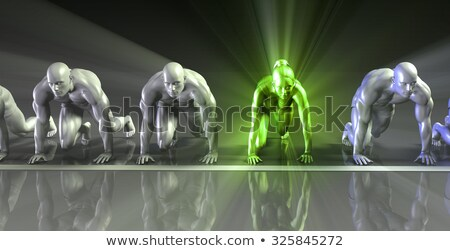 Lone Female Competing Against Males Foto stock © kentoh
