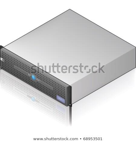 Alacsony profil szerver egység ezüst izometrikus Stock fotó © Vectorminator