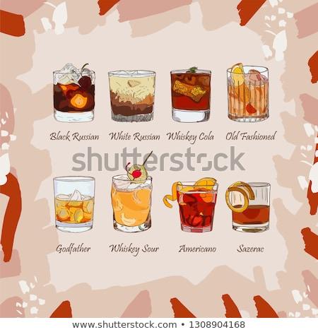 Classic sazerac cocktail scetch Stock photo © netkov1