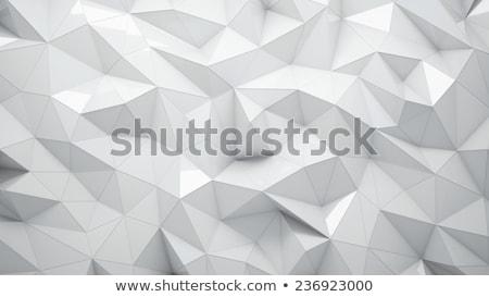 Soyut düşük geometri üçgen mozaik pastel Stok fotoğraf © teerawit