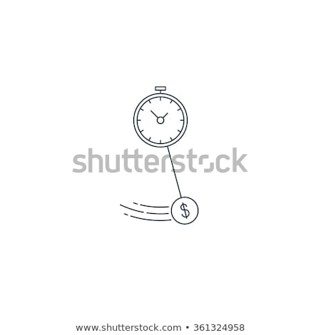 wall clock with dollar symbol line icon stock photo © rastudio