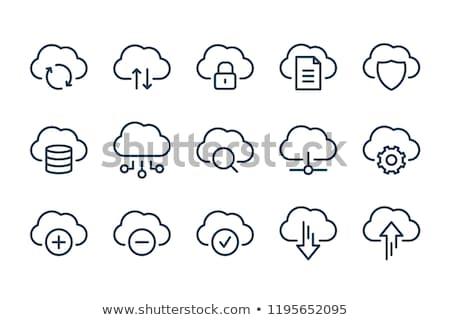 Felhő alapú szolgáltatások ikon üzlet szürke gomb terv Stock fotó © WaD