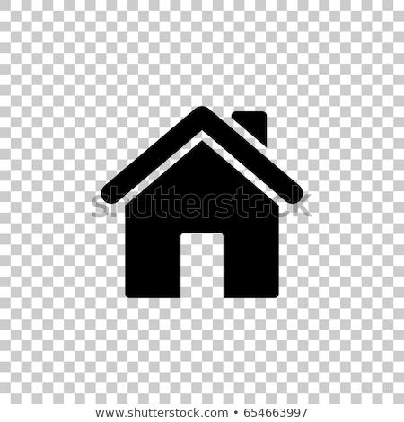 Basit vektör ev ikon web tasarım şablon Stok fotoğraf © kurkalukas
