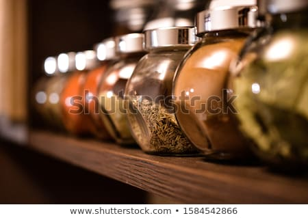 vintage spice cabinet stock photo © digifoodstock