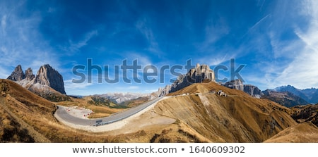 Sella pass in Dolomites Stock photo © LianeM
