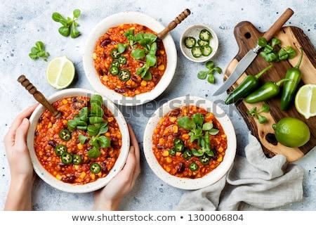 bean · mais · insalata · chili · tre - foto d'archivio © digifoodstock