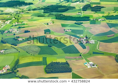 aerial of rural area near Airport Munich in the erdinger moos Stock photo © meinzahn
