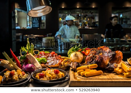 Carving meat station Stock photo © vichie81