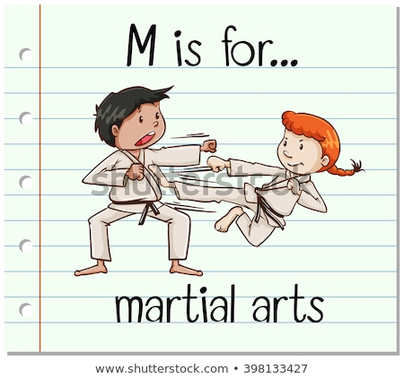 Flashcard letter M is for martial arts Stock photo © bluering