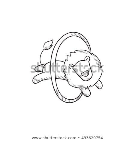 circus · illustratie · glimlachend · vrouw · lopen - stockfoto © rastudio