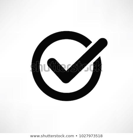 Verificar ícone verde teia botão abrir Foto stock © simo988