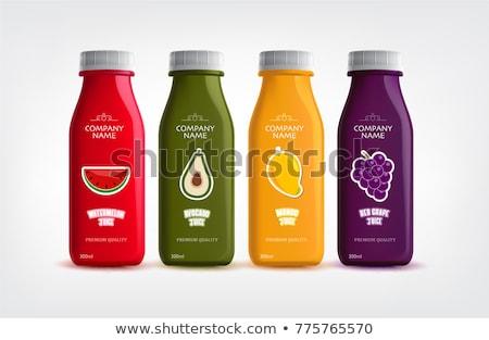 garrafa · saudável · vermelho · branco - foto stock © nito