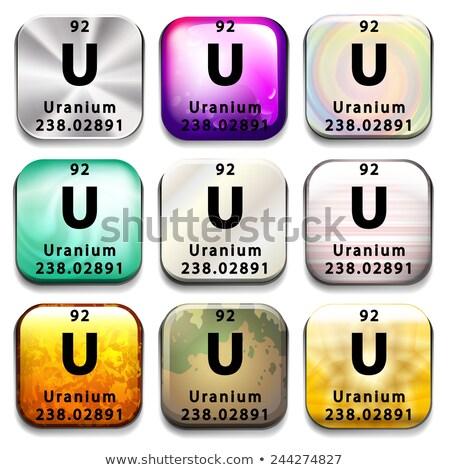Periódusos rendszer mutat urán fehér oktatás kémia Stock fotó © bluering