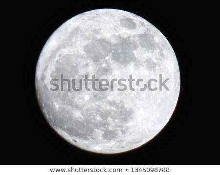 Full moon on black background Stock photo © Sonya_illustrations