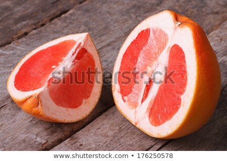 Juicing Ruby Red Grapefruit on Wood Board Stock photo © ozgur