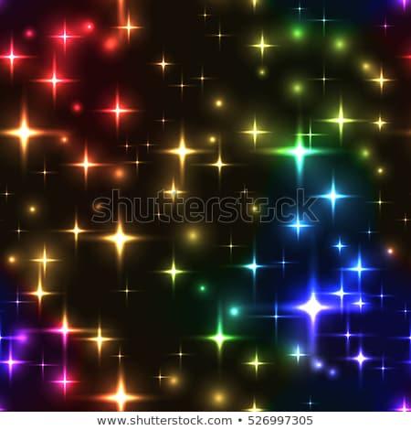 Christmas Neon Snowflakes with Magic Sparkles Stock photo © Voysla