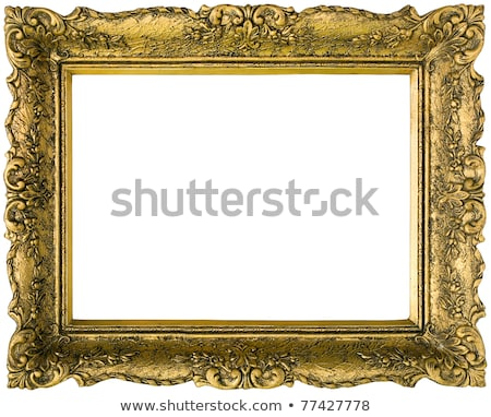 Antique gilded wooden Frame Isolated with Clipping Path Stock photo © smuki