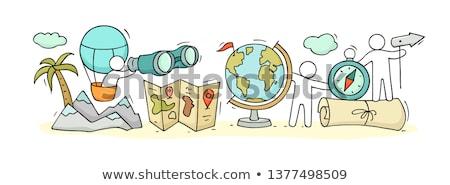földrajz · iskolatábla · terv · tábla · színes · illusztráció - stock fotó © bluering