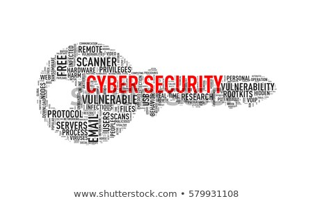 Key shape wordcloud tag cyber security Stock photo © nasirkhan