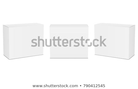 Illustration of White Product Cardboard Package Box. Stock photo © tussik