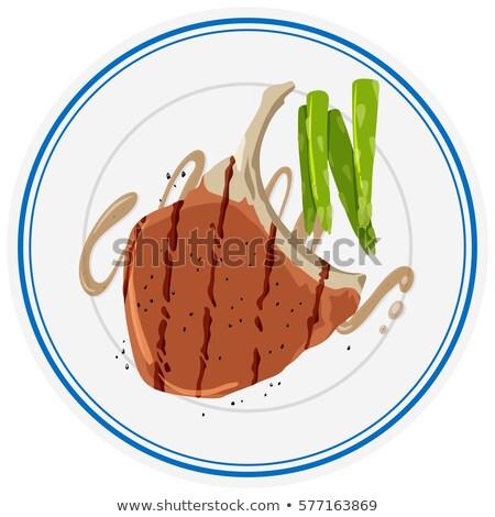 Espargos prato ilustração fundo arte jantar Foto stock © bluering