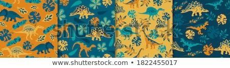恐竜 · ベクトル · スタイル · カラフル · テクスチャ - ストックフォト © bluering