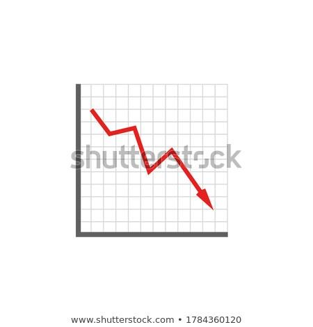 Csőd diagram ikon fehér üzlet piros Stock fotó © Imaagio