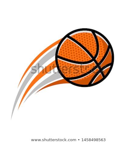 Kosárlabda labda ikon rajz stílus fehér Stock fotó © ylivdesign