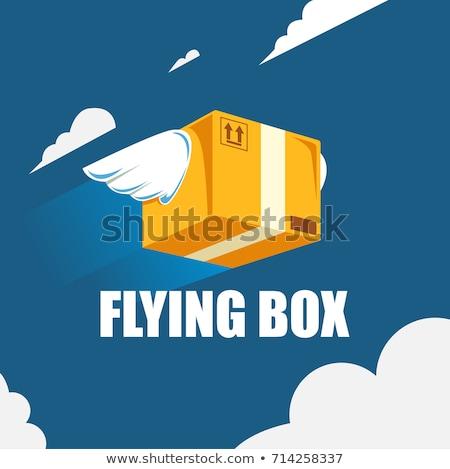 鳥 翼 パッケージ 速達便 ベクトル 漫画 ストックフォト © pcanzo
