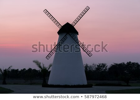 Old mill chalk and flour . The beautiful backdrop of the countryside of Holland. Stock photo © mcherevan