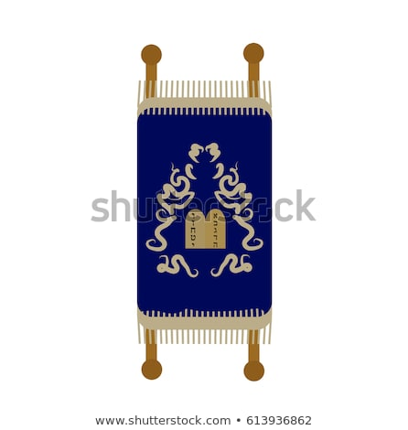 Torah icon, flat, cartoon style. Scroll Isolated on white background. Vector illustration, clip-art. Stock photo © lucia_fox