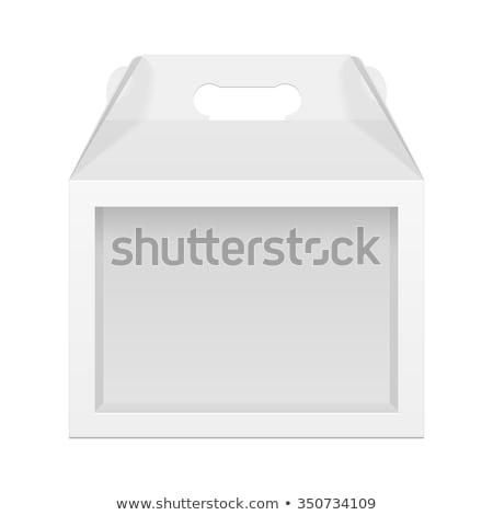 プラスチック · 広告 · ベクトル · 白 · 空っぽ · 紙 - ストックフォト © mediaseller