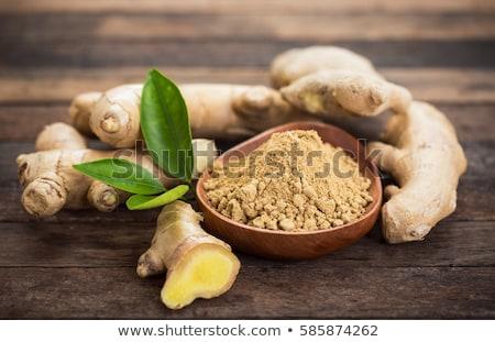 raiz · gengibre · fatias · verde · planta · quente - foto stock © digifoodstock