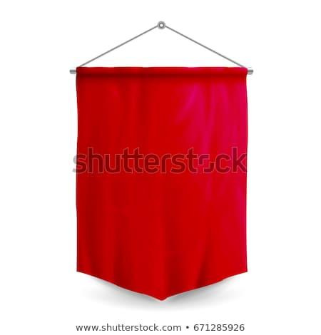 realistic black and red textile banners stock photo © mediaseller