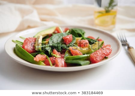 grapefruit and avocado salad Stock photo © M-studio