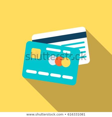 vector · tarjeta · de · crédito · frente · vista · posterior · mundo · mapa - foto stock © curiosity