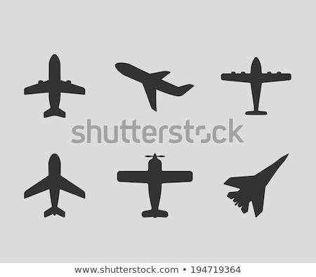Different designs of military airplanes Stock photo © bluering