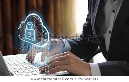 cloud security concept on laptop screen stock photo © tashatuvango