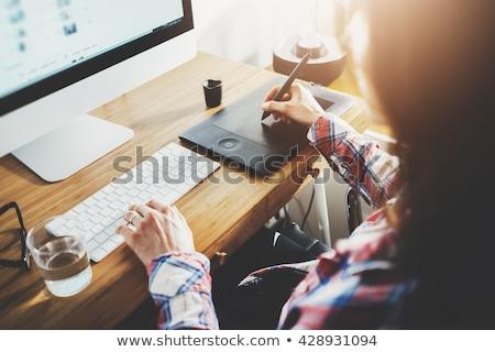 Gráfico estilista escritório projeto laptop Foto stock © wavebreak_media