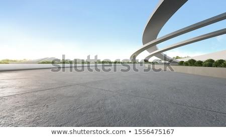 Paisible vide route pont ciel bleu ville Photo stock © Fisher