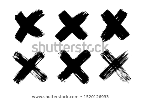 x cross sign vector red hand drawn x mark symbol grunge letter x isolated stock photo © pikepicture