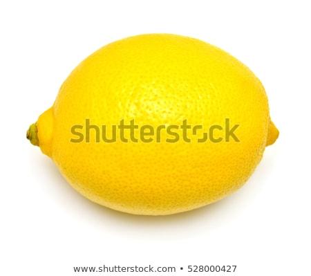 tutto · limone · isolato · bianco · giallo · mangiare - foto d'archivio © ivo_13